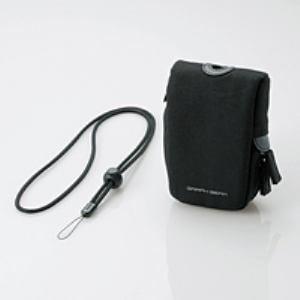 エレコム DGB-057BK 首ひも付デジタルカメラケース ブラック