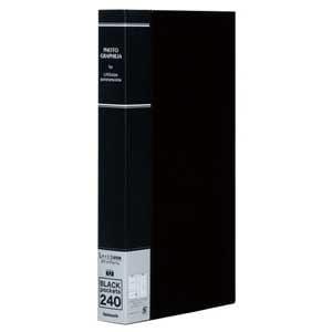 ナカバヤシ L判 3段 240枚収納 ポケットアルバム(ブラック) PHL-1024-D