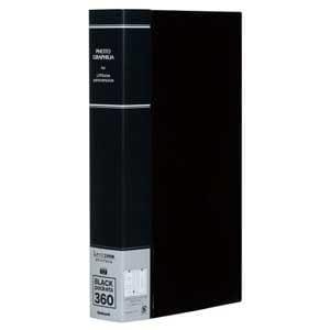 ナカバヤシ L判 3段 360枚収納 ポケットアルバム(ブラック) PHL-1036-D