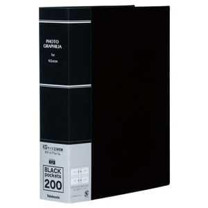 ナカバヤシ KG判 2段 200枚収納 ポケットアルバム(ブラック) PHKG-1020-D