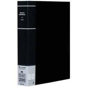 ナカバヤシ 2L判 200枚収納 ポケットアルバム(ブラック) PH2L-1020-D