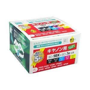 エコリカ ECI-CAMP500/BOX キヤノン BCI-7E+9/5MP 互換リサイクルインクカートリッジ 4色パック+9BK互換