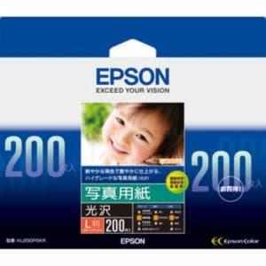 エプソン KL200PSKR 【純正】写真用紙 光沢(L判/200枚)