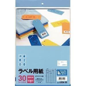 エーワン ラベル用紙 65面 30シート L65A-30