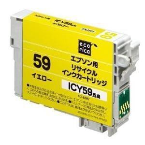 エコリカ ECI-E59Y エプソン ICY59対応 リサイクルインクカートリッジ イエロー