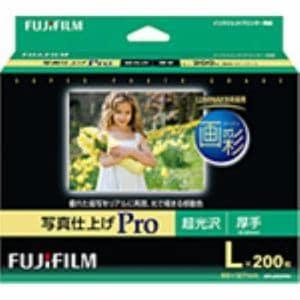 富士フイルム WPL200PRO インクジェット用紙 画彩 写真仕上げPro Lサイズ 200枚入 超光沢 厚手