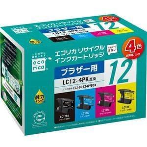 エコリカ ECI-BR124P/BOX ブラザー LC124PK互換 リサイクルインク 4色パック(B/C/M/Y)