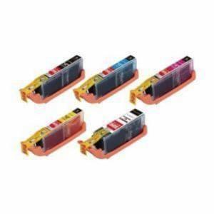エレコムカラークリエイション CIC-350+351XL5P キヤノン用互換インクカートリッジ   5色セット