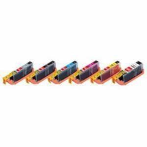 エレコムカラークリエイション CIC-350+351XL6P キヤノン用互換インクカートリッジ   6色セット