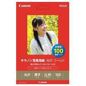 キヤノン GL-1012L100 キヤノン写真用紙・光沢 ゴールド (2L判・100枚)