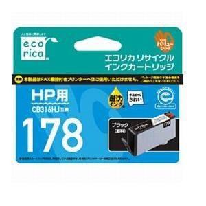 エコリカ ECI-HP178B-V HP CB316HJ対応 リサイクルインクカートリッジ ブラック