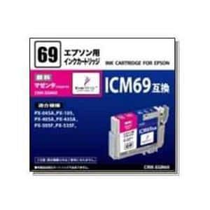 オーム電機 CINK-EGM69 ICM69互換 エプソン用汎用インク マゼンタ