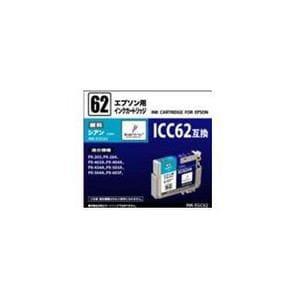 オーム電機 ICC62互換 エプソン用汎用インク シアン INK-EGC62