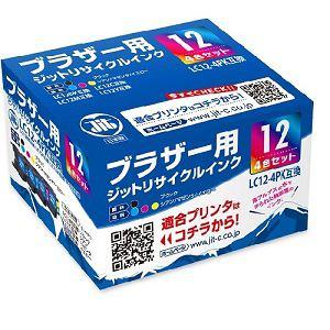ジット リサイクルインク ブラザーLC12-4PK互換 JIT-KB124P