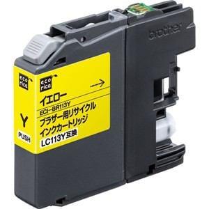 エコリカ ECI-BR113Y ブラザー用リサイクルインク(イエロー)LC113Y