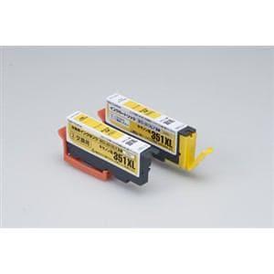 カラークリエーション CCC-351LYW CANON BCI-351XLY互換インクカートリッジ1個+交換用インクタンク1個