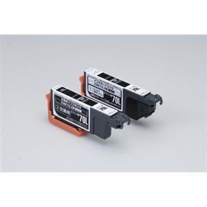 エレコムカラークリエイション CCE-ICBK70LW エプソン用互換インクカートリッジ   ブラック (2回用)