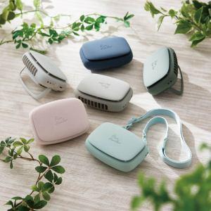 エレコム FAN-U216NV USB扇風機 充電可能 ハンズフリー ネックストラップ付 クリップ付 ネイビー