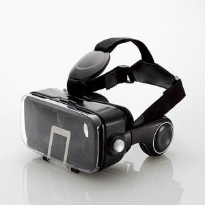 エレコム P-VRGEH01BK VRグラス(ヘッドホン一体型タイプ) ブラック