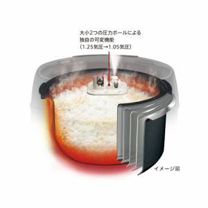タイガー JPC-B100-W 圧力IH炊飯ジャー(5.5合炊き) ホワイト