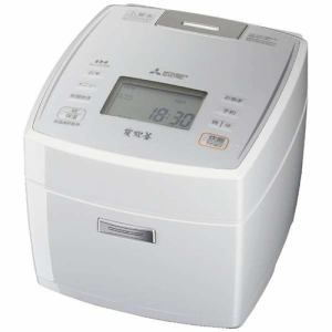 三菱 NJ-VE108-W IHジャー炊飯器 「備長炭炭炊釜」 (5.5合炊き) ピュアホワイト