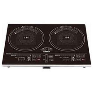 ヤマゼン IHW-S1460G-B IH調理器(2口) ブラック