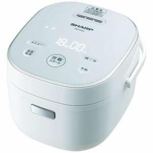 シャープ KS-CF05A-W ジャー炊飯器 (3合炊き) ホワイト系