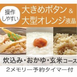 炊飯器 ヤマダ YAMADASELECT YECM18G1 1升炊き W 一升