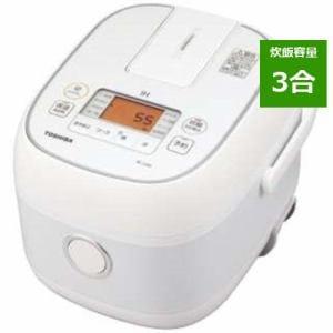 炊飯器 東芝 RC-5XN-W ホワイト 3合炊き IH 3合