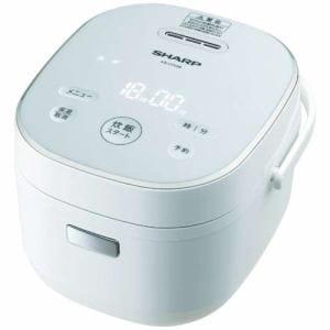 シャープ KS-CF05B-W マイコン炊飯器 3合炊き ホワイト系
