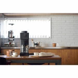 ツインバード CM-D465B 全自動コーヒーメーカー ブラック (6カップ抽出可能) コーヒーメーカー