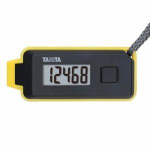 タニタ 緊急ホイッスル付き3Dセンサー搭載歩数計 「歩イッスル」 ブラック FB-738-BK