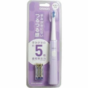 オムロン HT-B210-V 音波式電動歯ブラシ パープル