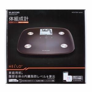 エレコム HCS-RFS01BK 体組成計 「HELLO」 ブラック