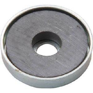 TRUSCO キャップ付フェライト磁石 外径19.8mmX厚み4mm 1個入り