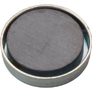 TRUSCO キャップ付フェライト磁石 外径17.5mmX厚み5mm10個入り