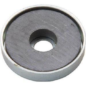 TRUSCO キャップ付フェライト磁石 外径25.5mmX厚み5mm10個入り