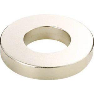 TRUSCO ネオジム磁石 外径10mmX穴径6mmX厚10mm 10個入