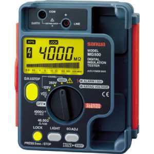 SANWA デジタル絶縁抵抗計 500V/250V/125V