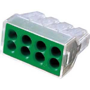 ワゴ WGX-8 差込コネクタ 8穴用 4個入