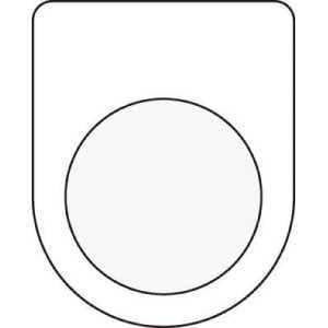 IM 押ボタン/セレクトスイッチ(メガネ銘板) 無地 φ22.5