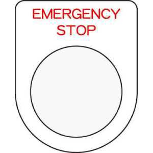 IM 押ボタン/セレクトスイッチ(メガネ銘板) EMERGENCY STOP 赤