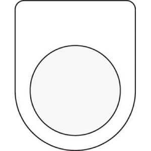 IM 押ボタン/セレクトスイッチ(メガネ銘板) 無地 φ30.5
