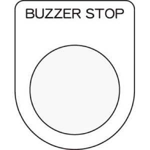 IM 押ボタン/セレクトスイッチ(メガネ銘板) BUZZER STOP 黒 φ3