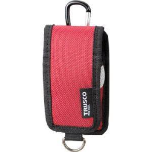 TRUSCO コンパクトツールケース 携帯電話用 レッド