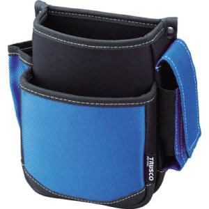 TRUSCO 腰袋 2段 携帯電話ホルダー付き ブルー