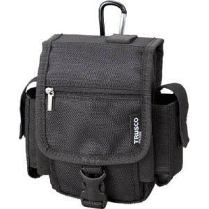TRUSCO コンパクトツールケース ツーサイドポケット ブラック