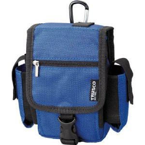 TRUSCO コンパクトツールケース ツーサイドポケット ブルー