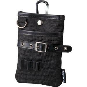 TRUSCO コンパクトツールケース シザーポケット ブラック