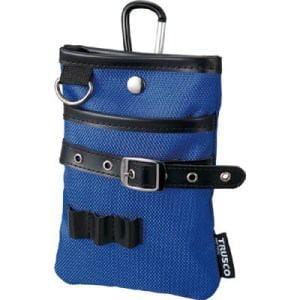 TRUSCO コンパクトツールケース シザーポケット ブルー